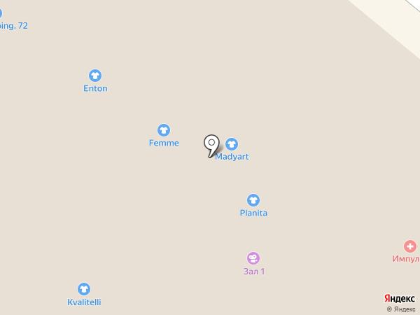 Planita на карте Тюмени
