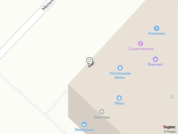 Магазин постельного белья и трикотажной одежды на карте Тюмени