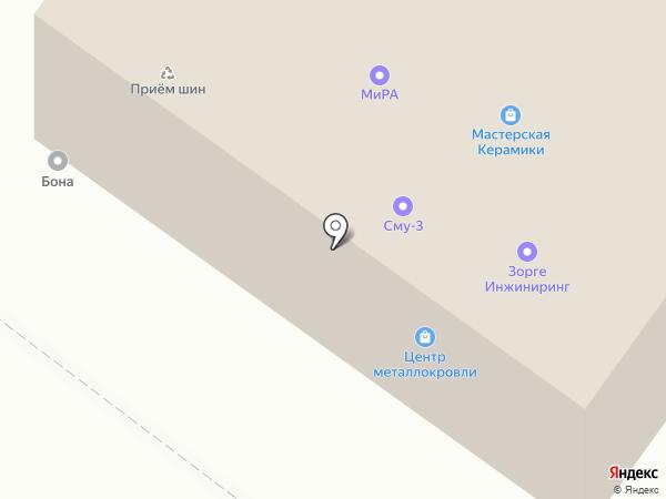 Строительно-монтажное управление №3 на карте Тюмени