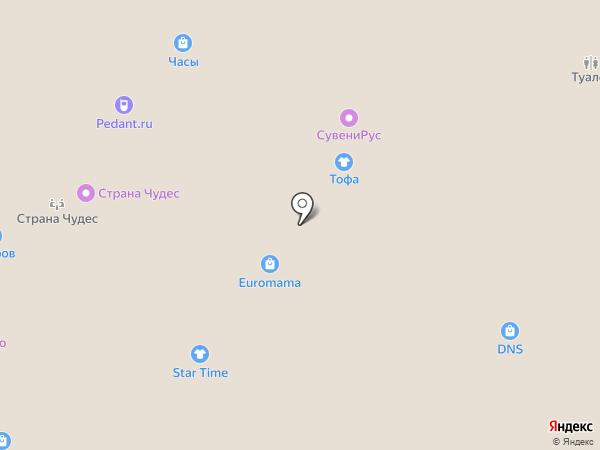 Тофа на карте Тюмени