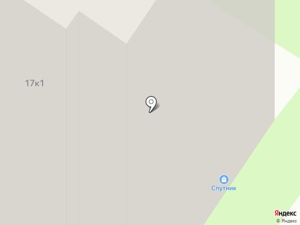 Спутник на карте Тюмени