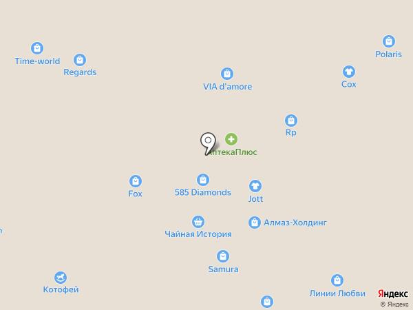 Бусинка на карте Тюмени