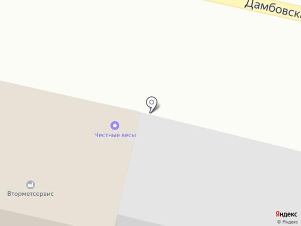 Гараж на карте Тюмени
