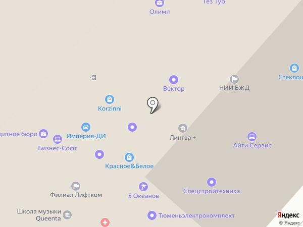 Ронин на карте Тюмени