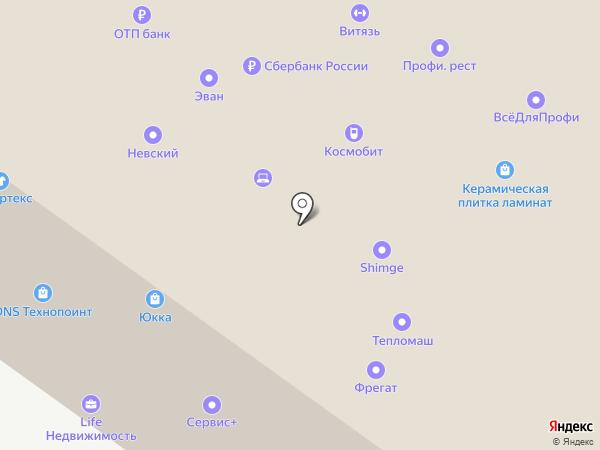 Омега на карте Тюмени