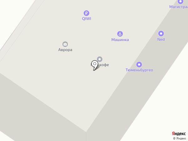 Магистраль на карте Тюмени
