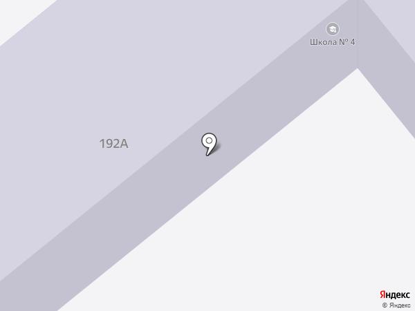 Средняя общеобразовательная школа №4 на карте Ялуторовска
