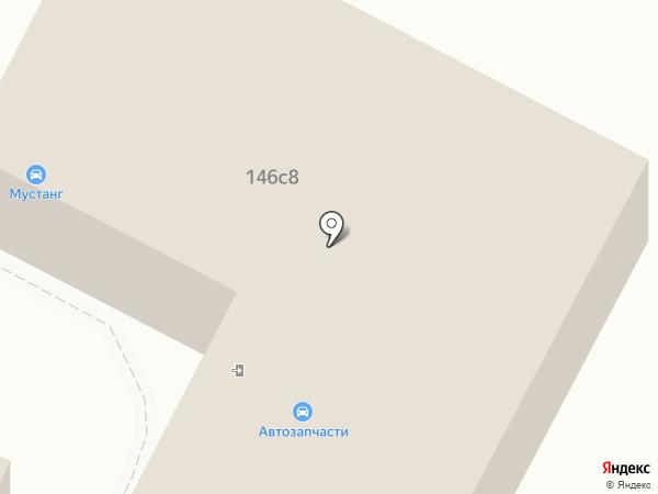 Мустанг на карте Заводоуковска