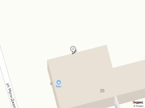 МИГ на карте Тобольска