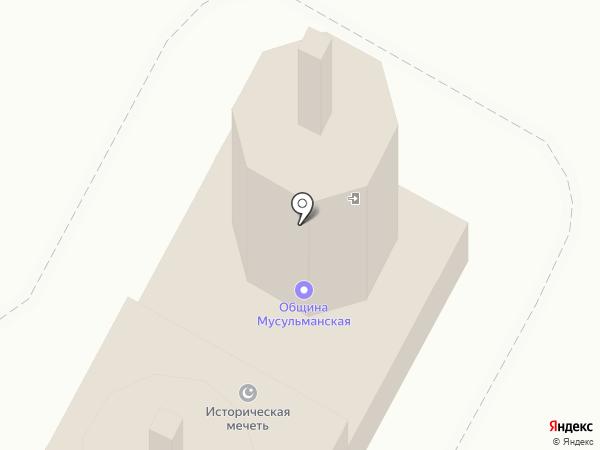 Мечеть на карте Тобольска
