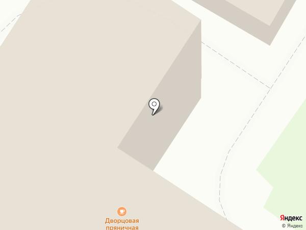 Дворцовая пряничная на карте Тобольска