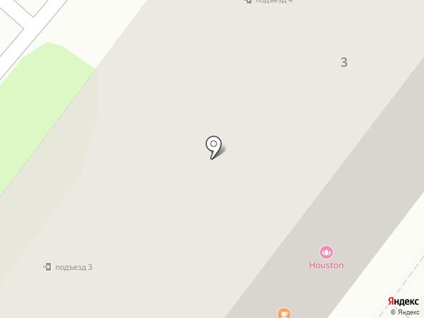 Историческая часть на карте Тобольска