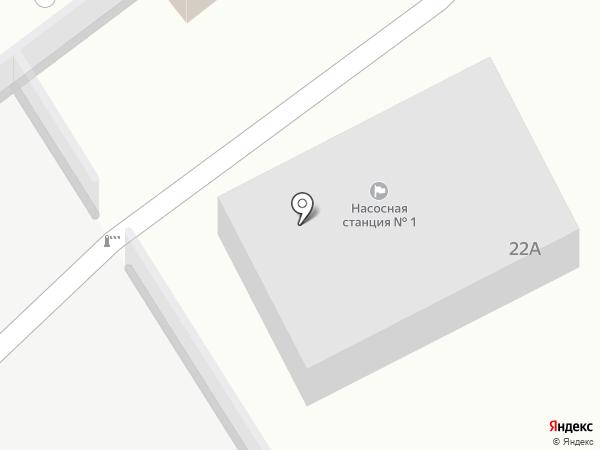 Подкачивающая насосная станция №1 на карте Тобольска