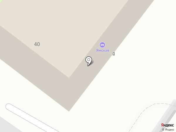 Ямская на карте Тобольска
