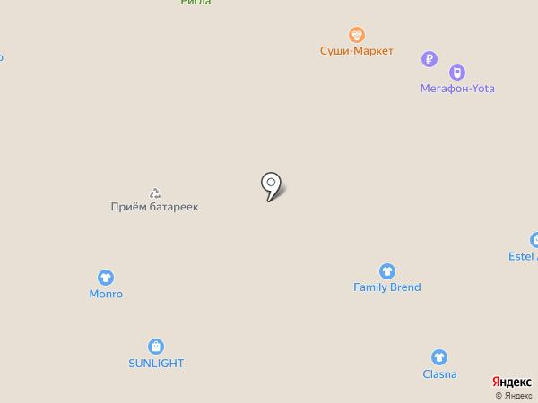 Синар на карте Тобольска