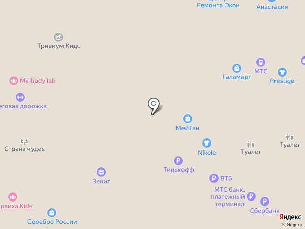 Cinnabon на карте Тобольска