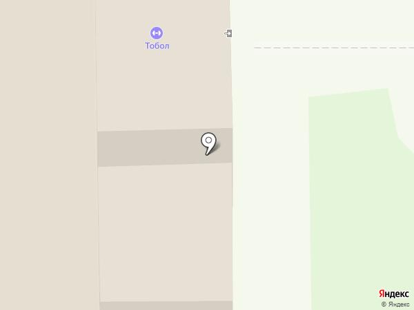 Тобол на карте Тобольска