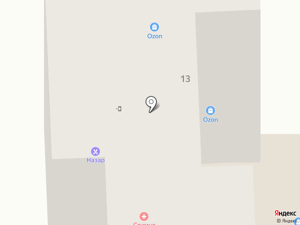 Аркада на карте Тобольска