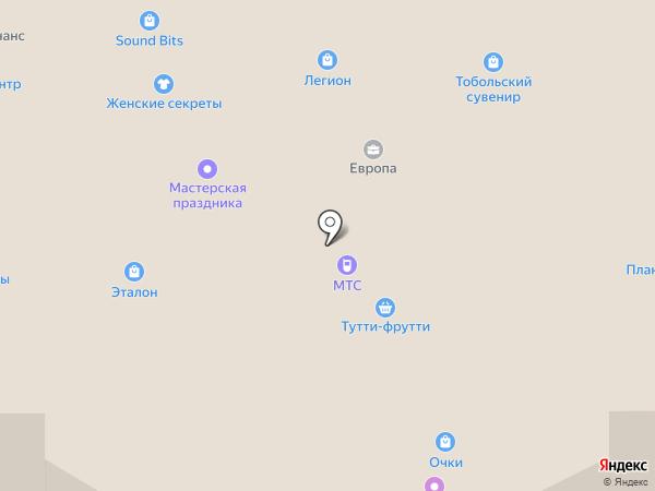 Арт-багет на карте Тобольска