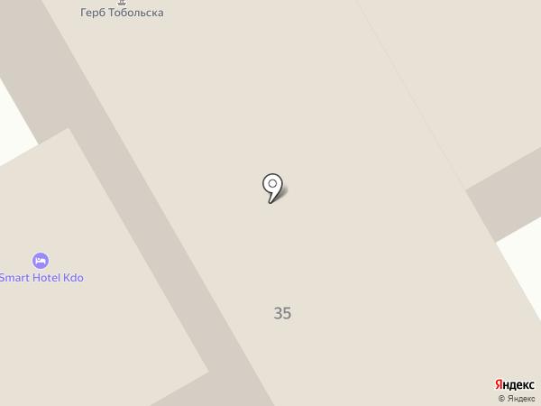 Тобольск на карте Тобольска