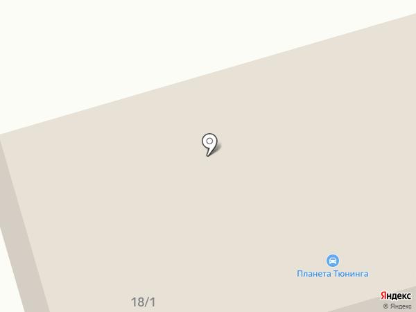 Планета Тюнинга на карте Нефтеюганска