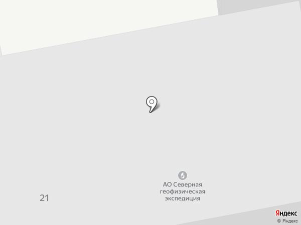 Северная геофизическая экспедиция на карте Нефтеюганска
