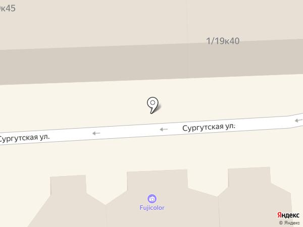 Салон оптики на карте Нефтеюганска