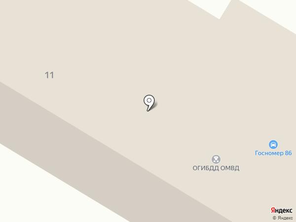 Отдел ГИБДД Управления МВД по г. Нефтеюганску на карте Нефтеюганска