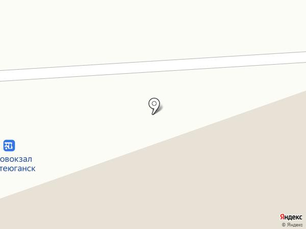 Автобусная станция г. Нефтеюганска на карте Нефтеюганска