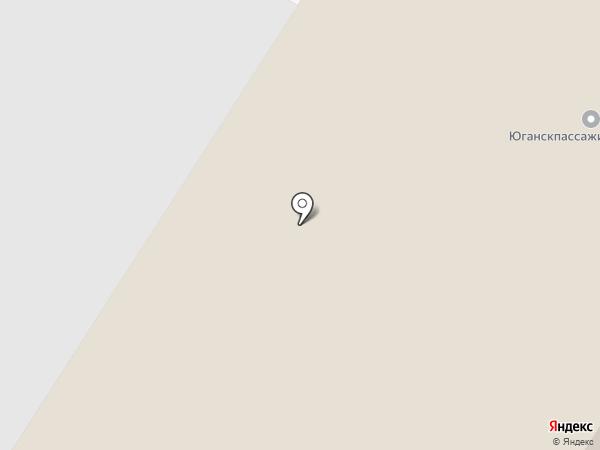 Электросвязи, МУП на карте Нефтеюганска