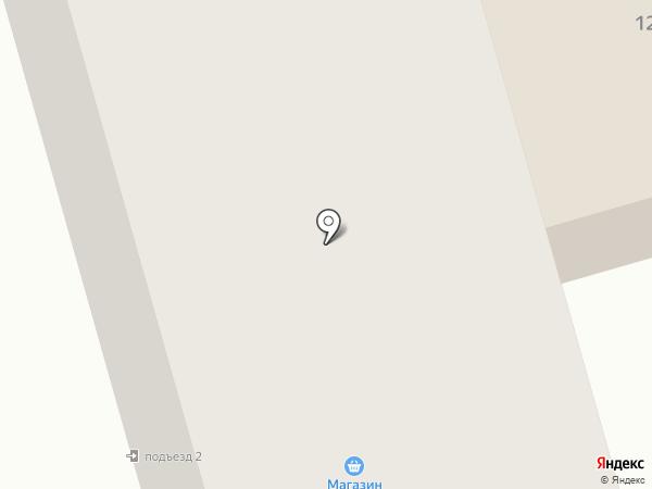 Продуктовый магазин на ул. 1-й микрорайон на карте Нефтеюганска
