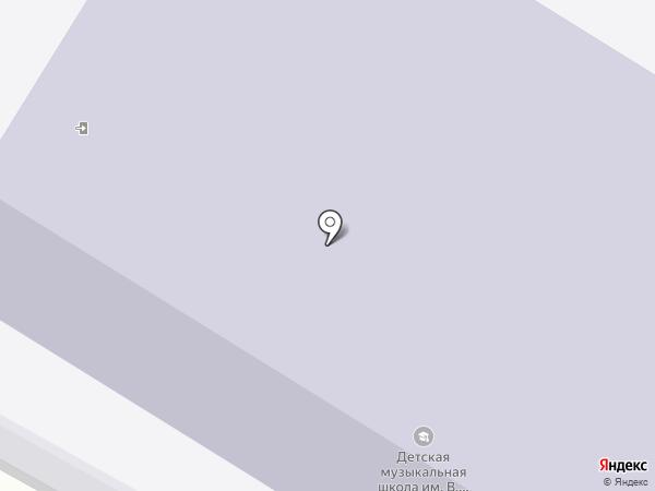 Детская музыкальная школа им. В.В. Андреева на карте Нефтеюганска