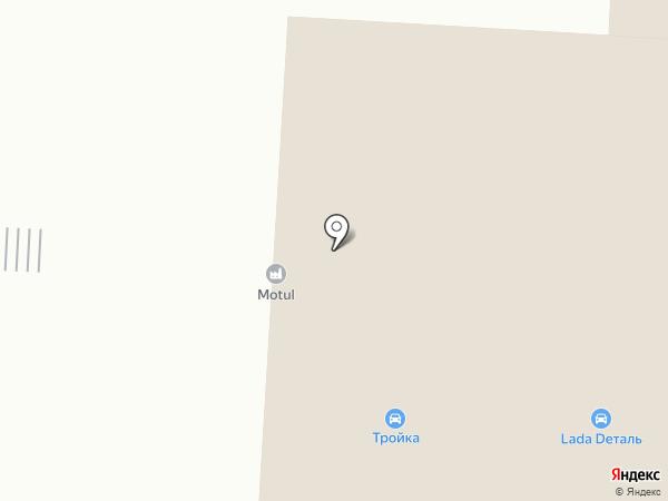 Тройка на карте Нефтеюганска
