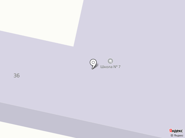 Средняя общеобразовательная школа №7 на карте Темиртау