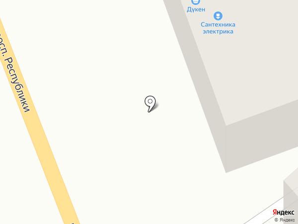 Магазин сантехникий и хозяйственных товаров на карте Темиртау