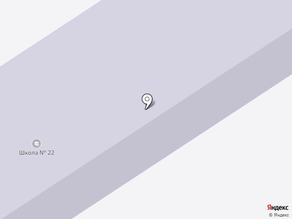 Средняя общеобразовательная школа №22 на карте Темиртау
