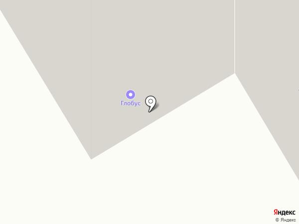 Глобус на карте Темиртау