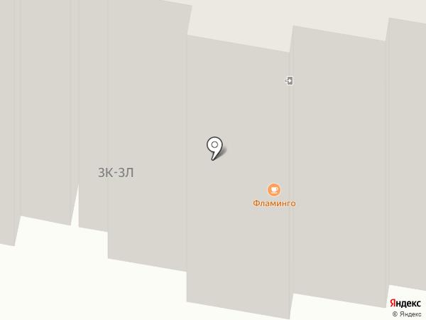 Фламинго на карте Темиртау