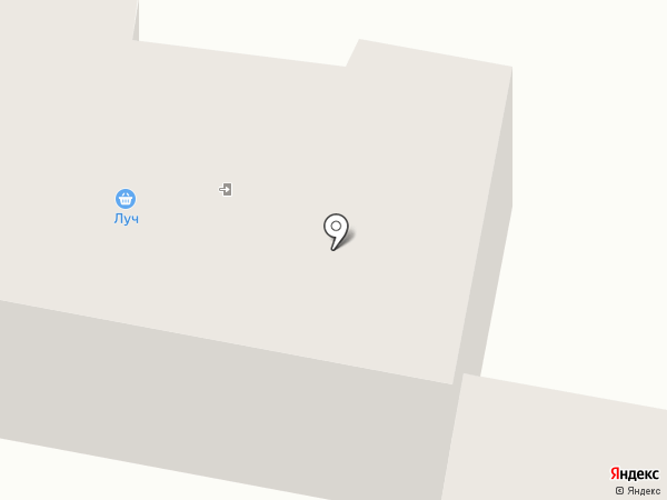 Луч на карте Темиртау