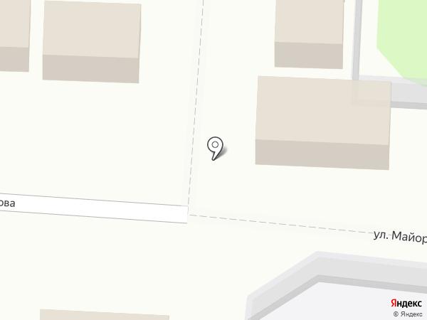 Магазин свежемороженой рыбы на карте Лузино