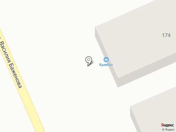 Кымбат на карте Караганды