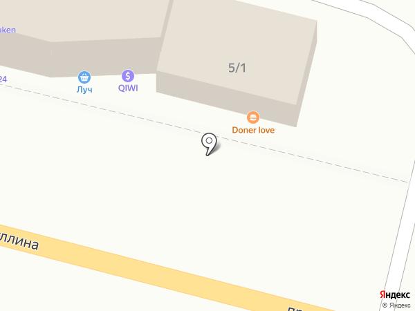 Батыр на карте Караганды