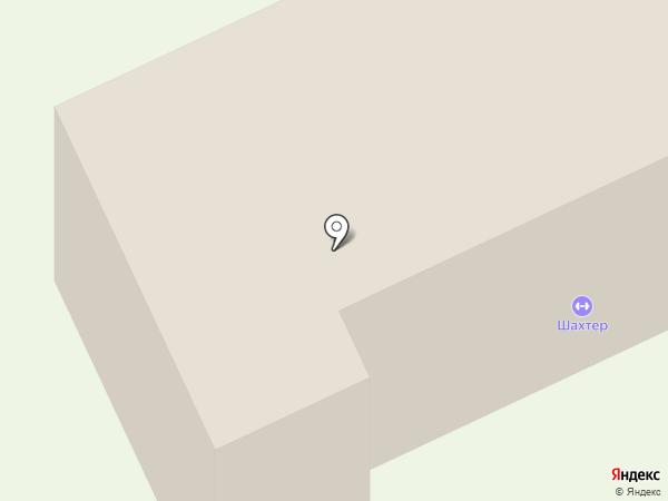 Шахтер на карте Караганды