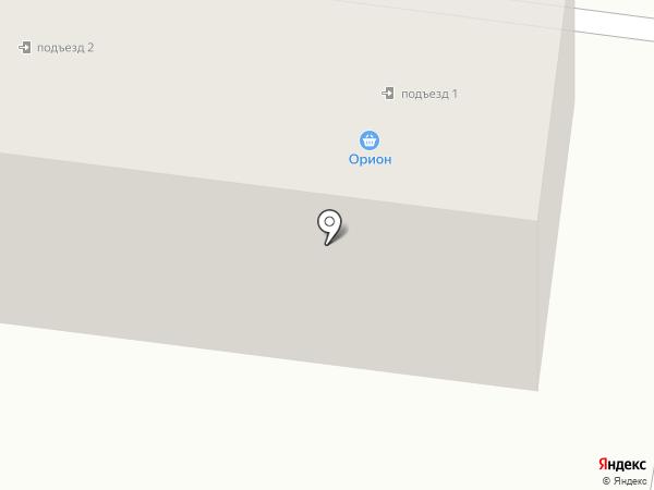 Орион на карте Караганды