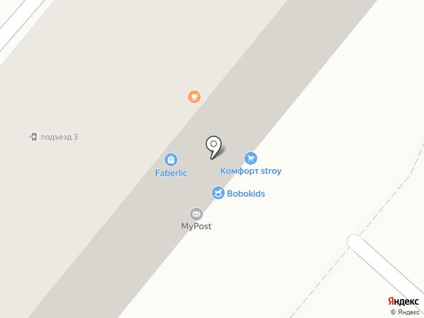 Ёлка на карте Караганды