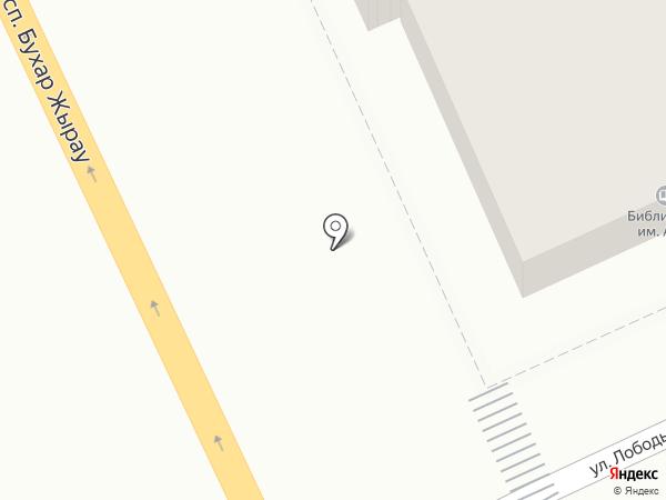 Карагандинская областная детская библиотека им. Абая на карте Караганды
