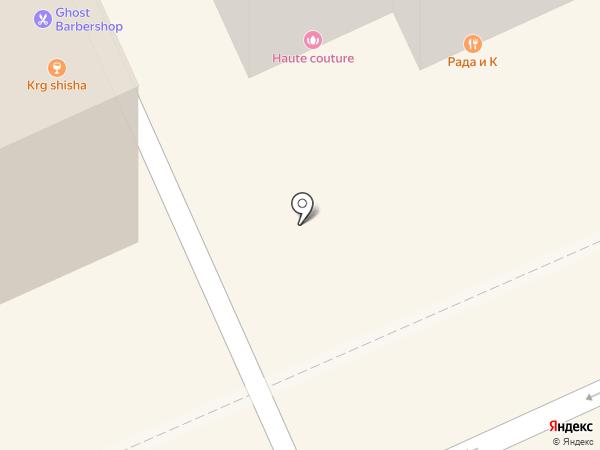 Рада и К на карте Караганды