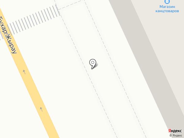 Магазин канцтоваров на карте Караганды