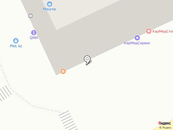 Пинта на карте Караганды