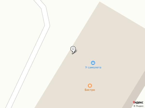 У самолета на карте Караганды